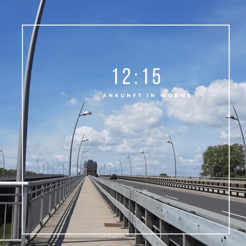 Rheinbrücke vor Worms