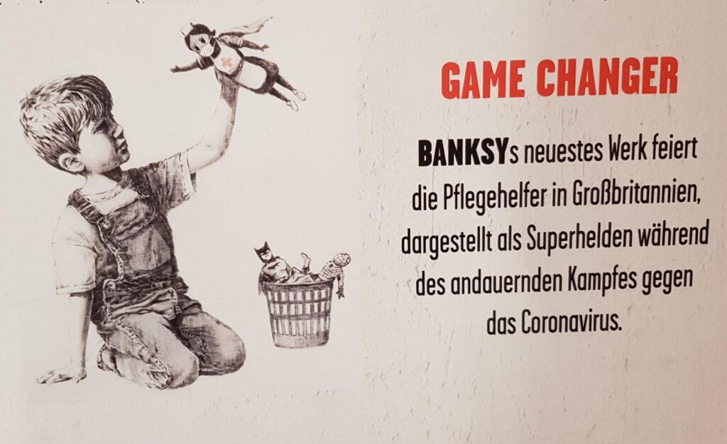 Bild aus der Banksy Ausstellung